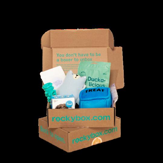 Blå box